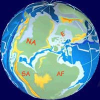 Geological time scale for the origins and evolution of life 22 jurassic period 144 to 208 mya see map gumiabroncs Images