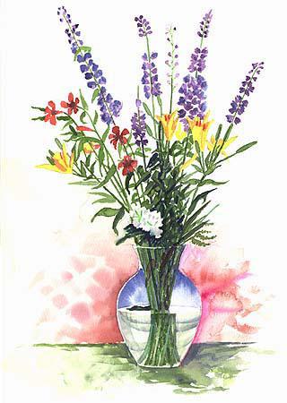 Handprint Vase Sketch