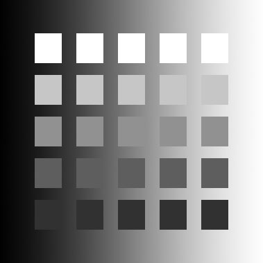 Color changes induced by simultaneous contrast on lightness