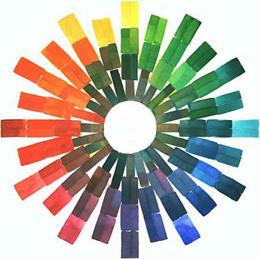 The Paints Used Are Reading Counterclockwise Around Twelve Color Points Of Tertiary Wheel 1 Winsor Newton Aureolin Or Daniel Smith